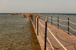 Pier on shore Stock Photos