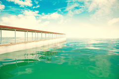 Pier sideview Royalty Free Stock Images