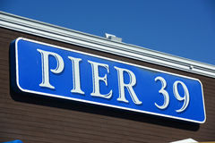 Pier 39 Sign, San Francisco, California Royalty Free Stock Photography