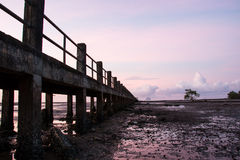 Pier Silhouette Royalty Free Stock Photography