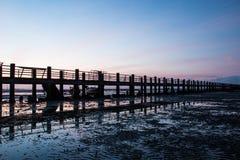 Pier silhouette Stock Image