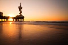 Pier silk sunset Stock Photo