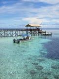 Pier in Sipadan-Insel, Sabah, Malaysia Lizenzfreie Stockbilder