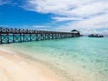 Pier at Sipadan Island, Sabah, Malaysia Stock Images