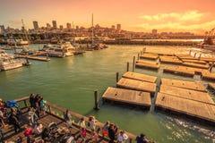 Pier 39 skyline Royalty Free Stock Photos