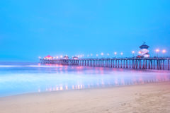 Pier am Sonnenaufgang Lizenzfreie Stockfotografie