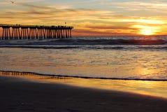 Pier-Sonnenuntergang Stockfotografie