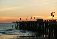 Pier-Sonnenuntergang Lizenzfreie Stockbilder