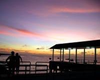 Pier-Sonnenuntergang Lizenzfreies Stockfoto