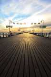 Pier in Sopot. Sunrise at the pier in Sopot, Poland Royalty Free Stock Photography