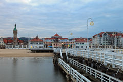 Pier in Sopot Royalty Free Stock Photos