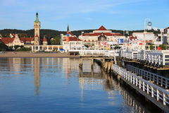 Pier in Sopot. Morning in the holiday resort of Sopot, Poland Royalty Free Stock Photography