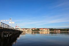 Pier in Sopot. Morning in the holiday resort of Sopot, Poland Stock Photo