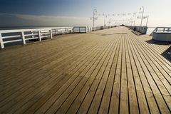 The pier in Sopot. The pier in City Sopot - Poland Stock Photo