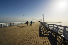 The pier in Sopot. The longest wooden pier - Sopot - Poland Stock Images