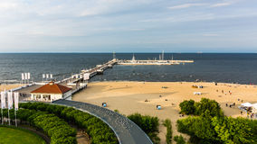 Pier in Sopot royalty free stock photography