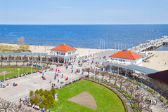 Pier of Sopot. And Baltic sea, Poland Royalty Free Stock Photo