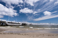 Pier in Sopot. Pier on the coast of Baltic sea in Sopot, Poland stock images