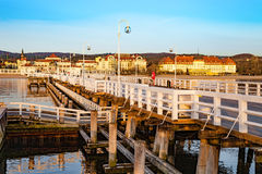 Pier in Sopot. In the early morning, Poland Royalty Free Stock Photography