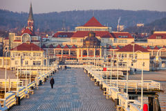 Pier in Sopot at morning Royalty Free Stock Images