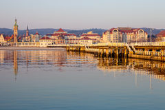 Pier in Sopot at morning Royalty Free Stock Photo