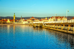 Pier in Sopot at morning Royalty Free Stock Image