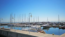 Pier in sopot. Pier in Sopot city. Poland Royalty Free Stock Images