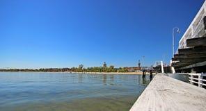 Pier in sopot. Pier in Sopot city. Poland Royalty Free Stock Image