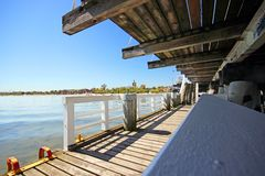 Pier in sopot. Pier in Sopot city. Poland Royalty Free Stock Photography