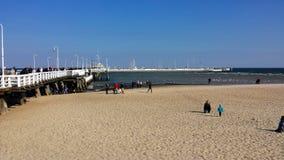Pier in Sopot, Poland Stock Image