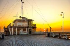 Pier in Sopot. Sunrise at the pier in Sopot, Poland stock photos