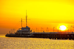 Pier in Sopot Royalty Free Stock Photos