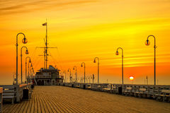 Pier in Sopot Royalty Free Stock Images