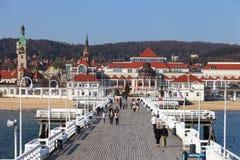 Pier in Sopot Stock Photo