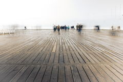 Pier in Sopot royalty free stock image