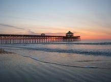Pier in South Carolina. Early morning shot of pier on coast of South Carolina Stock Photography