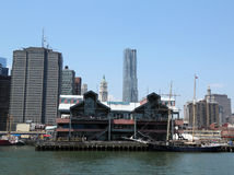 Pier 17 at South Street Seaport in Lower Manhattan Royalty Free Stock Photo