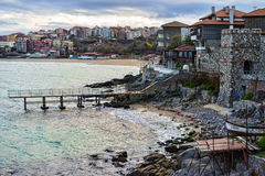 Pier at Sozopol Old Town Royalty Free Stock Photography