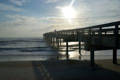 Pier in St Augustine in early morning Stock Photo