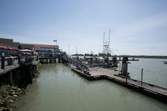 Pier at Steveston Stock Image