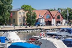 Pier in Stockholm Sweden Stock Photo