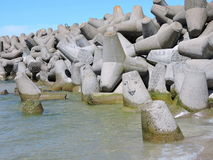 Pier stones Royalty Free Stock Images
