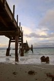 Pier on a stormy day Stock Image