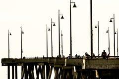 Pier am Strand Lizenzfreie Stockfotografie