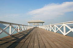 Pier in the summer. Si Chang Island, East in Thailand Stock Images