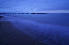 Pier after sundown. Stock Image