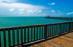 Pier on sunny day Royalty Free Stock Images