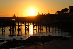 Pier Sunrise Royalty-vrije Stock Afbeelding