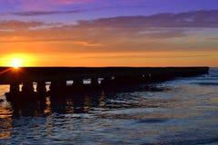 Pier Sunrise Royalty-vrije Stock Fotografie