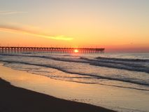Pier Sunrise Photo stock